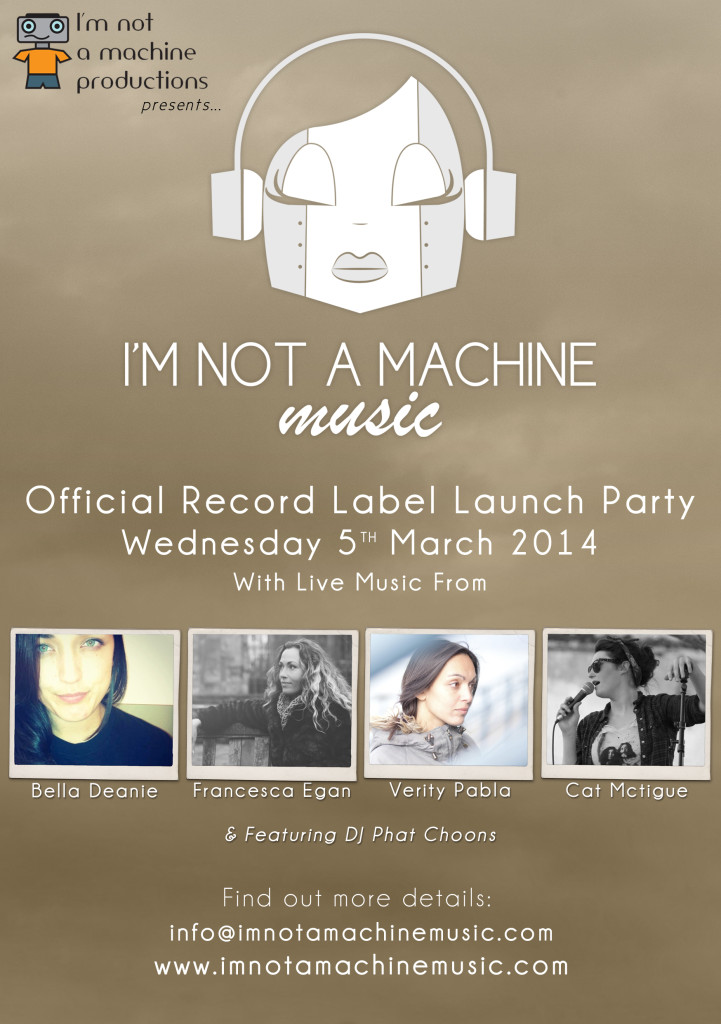 I'm not a machine music live launch